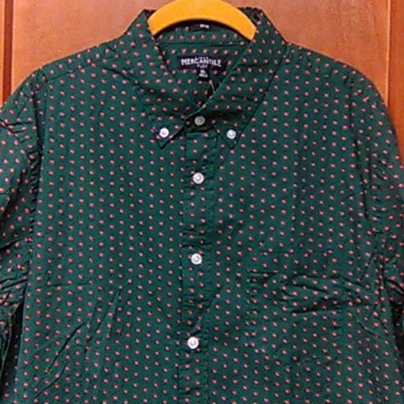 J.Crew Mercantile Mens Slim-fit Long-Sleeve Solid Shirt Button Down Shirt